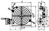 Bison 8 Horizontal & Vertical Low Profile Rotary Table 7-621-008