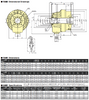 Kitagawa S1875 Large Thru Hole Open Center Hydraulic Cylinder