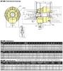 Kitagawa S2091 Large Thru Hole Open Center Hydraulic Cylinder