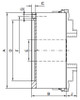 "Bison 16"" 4 Jaw Combination Manual Chuck Plain Back 7-848-1600"