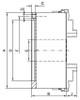 "Bison 25"" 4 Jaw Combination Manual Chuck Plain Back 7-849-2500"