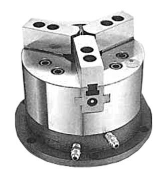 "Pratt Burnerd 10"" 3 Jaw Open Center Stationary Hydraulic Power Chuck OLU10D"