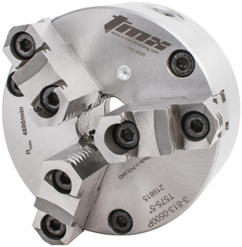 "TMX 12"" 3 Jaw Self Centering Manual Chuck Plain Back Front Mount 3-813-1200P"