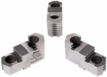 TMX Hard Top Jaws for 6 3 Jaw Scroll Chuck, 3 Piece Set, 3-883-306P