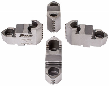 TMX Hard Top Jaws for 8 4 Jaw Scroll Chuck, 4 Piece Set, 3-883-408P