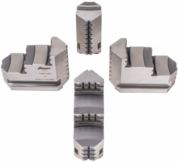 TMX Hard Master Jaws for 5 & 6 4 Jaw Independent Chucks, 4pc, Reversible, 3-890-106P