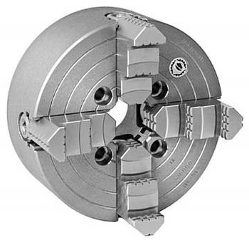 Bison 8 4 Jaw Independent Manual Chuck Plain Back 7-850-0800