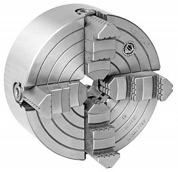 Bison 8 4 Jaw Independent Manual Chuck D1-4 Mount 7-853-0834