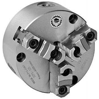 "Bison 6"" 3 Jaw Self Centering Manual Chuck Plain Back Front Mount 7-812-0600"