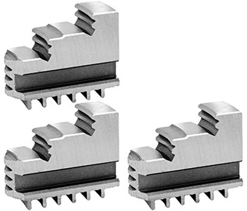 Bison Hard Solid OD Master Jaws for 10 Scroll Chuck, 3pc, 7-880-310