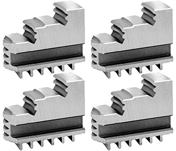 Bison Hard Solid OD Master Jaws for 10 Scroll Chuck, 4pc, 7-880-410