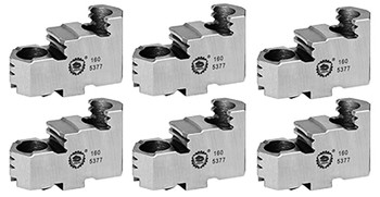 Bison Hard Top Jaws for 6 Scroll Chuck, 6pc, 7-883-606