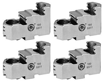 Bison Hard Top Jaws for 20 Scroll Chuck, 4pc, 7-883-420