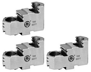 Bison Hard Top Jaws for 40 Scroll Chuck, 3pc, 7-883-340