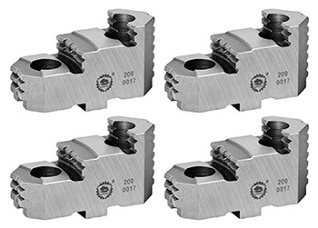 Bison Hard Top Jaws for 10 Independent Chuck, 4pc, 7-890-209