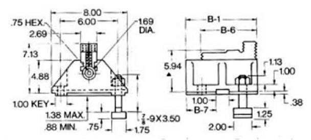 Cushman 12 Solid Reversible Boring Mill Jaws 4 Piece Set 10-073-12-000B