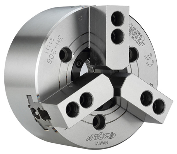 """AutoGrip 5"""" 3 Jaw Large Thru Hole High Speed Hydraulic Power Chuck A2-4 Spindle Mount Adapter 3H-05A4"""