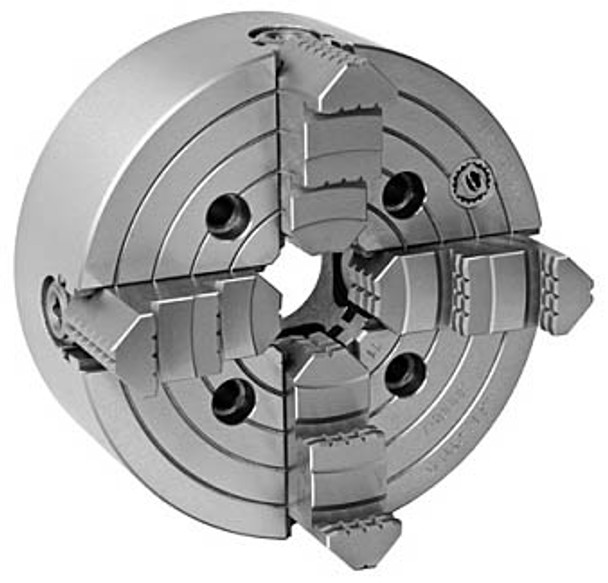 Bison 10 4 Jaw Independent Manual Chuck A2-8 Mount 7-851-1018