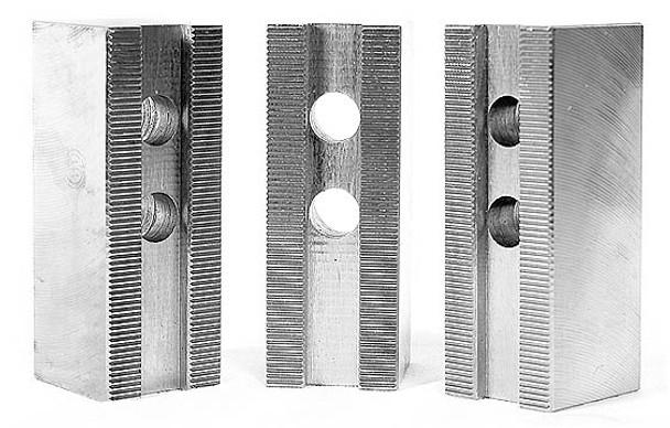 1.5mm x 60° Soft Top Jaws for 10 Power Chuck, Flat, Aluminum, PK3, KT 10300AF