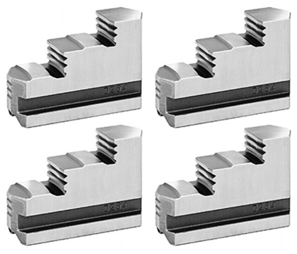 Bison Hard Solid Master Jaws for 8 Combination Chuck, 4pc, 7-891-108