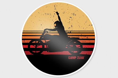 CAMP ZERO Sunset Sticker
