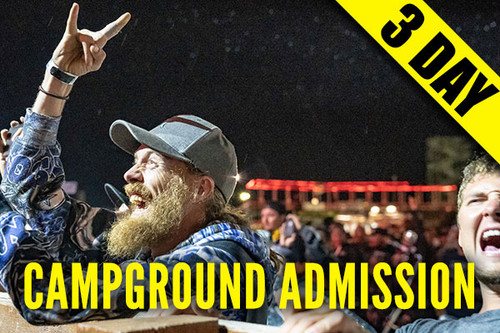 3-Day Campground Admission Pass – Package B – August 9-11, 2021