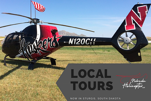 Helicopter-Downtown Sturgis Route