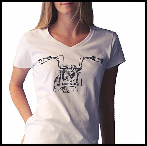 CAMP ZERO Women's White Headlight T-Shirt