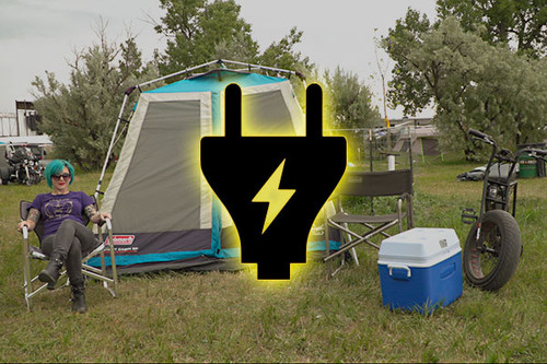 Sturgis Motorcycle Rally CAMPING SITE at the Buffalo Chip
