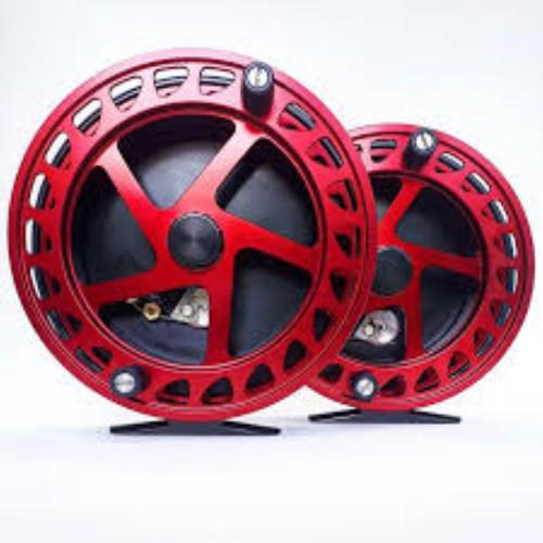 "Raven Helix New XL! Centerpin/Float Reel 5"" Black/ Red"