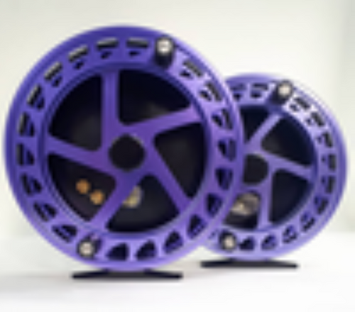 "Raven Helix New XL! Centerpin/Float Reel 5"" Black/ Purple"