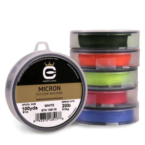 Cortland Micron Fly Line Backing 20 lb 100 yds - 5 Colors