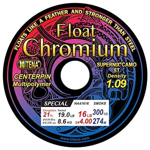 Chromium Float/Centerpin Main Line Floats Ultra Low Stretch  (300yd)