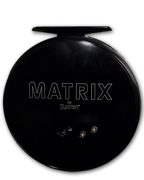 "Raven Matrix 4 3/8"" Black Centerpin Float Reel"