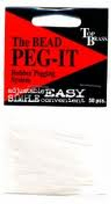 Peg-it Clear Bead Pegs for Troutbeads 50pk