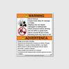 Warning! Tank Bust Hazard / Inspect Decal