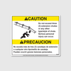 Caution! 3 Extension Chutes Decal