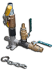 """600013 Dead Man Assembly 1"""" w/ Drain Hole - Chain and Ball Valve Included"""