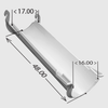 Chute - Aluminum  4' Standard Extension  - Now Pre-Painted Gloss White