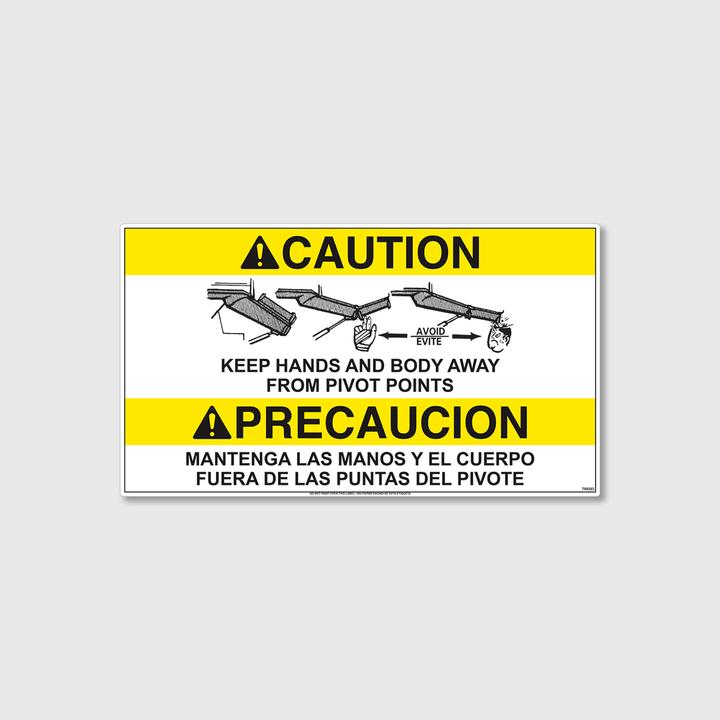 Caution! Pivot Point Decal