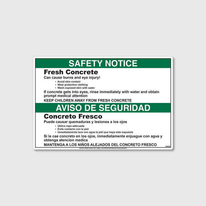 Safety Notice - Fresh Concrete Decal
