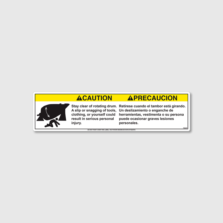 Caution! Stay Clear Decal