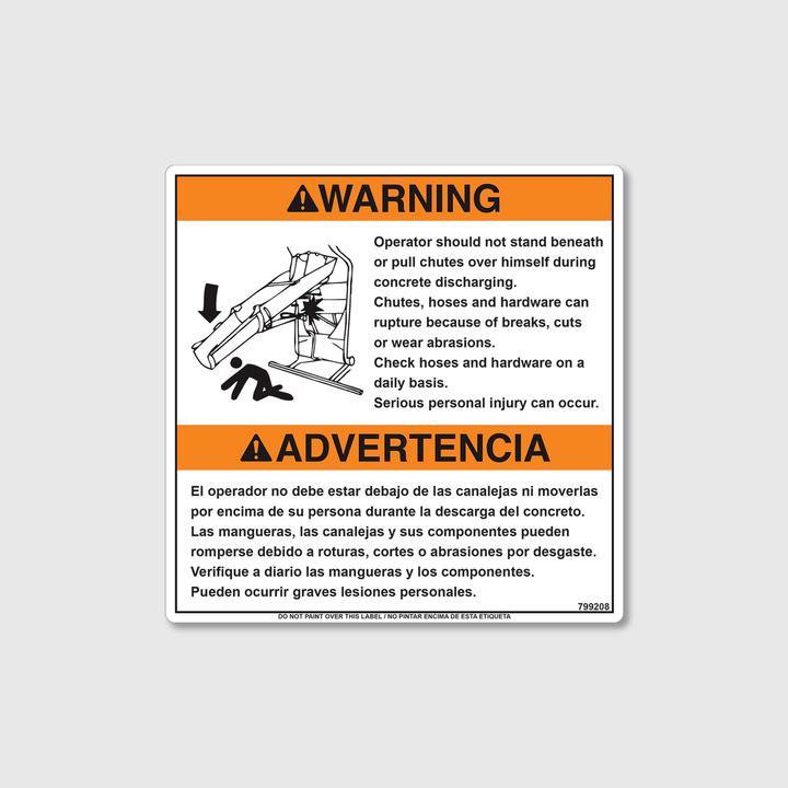 Warning! Operator Decal