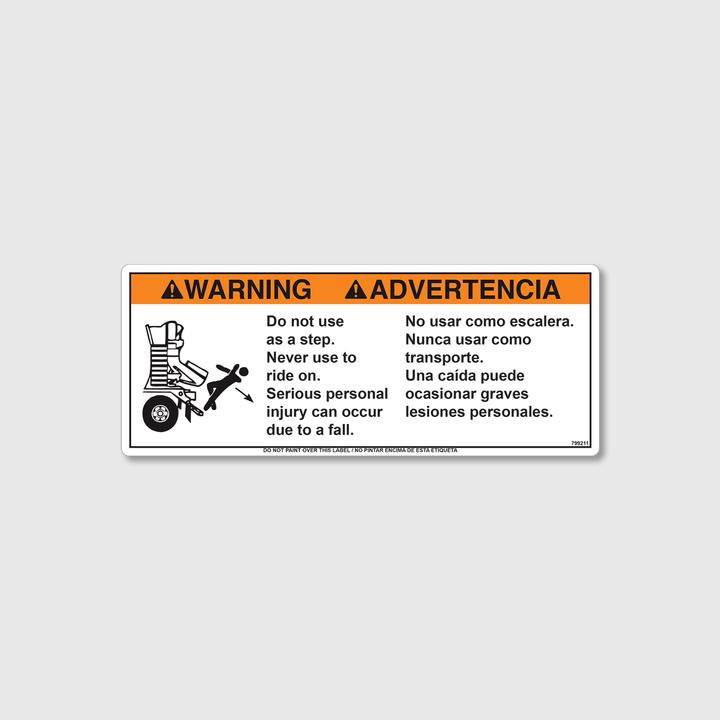 Warning! No Step Decal