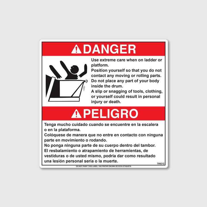 Danger! Ladder Care Decal