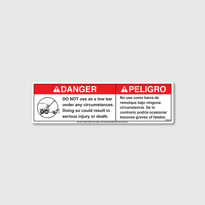 Danger! Do Not Use Decal