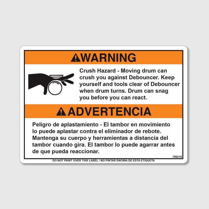 Warning! Hazard Debouncer Decal