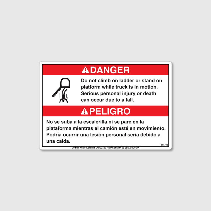 Danger! Do Not Climb Decal