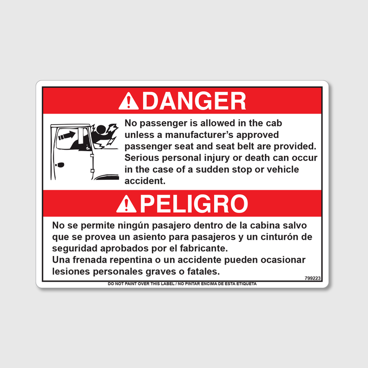 Danger! No Passengers Decal