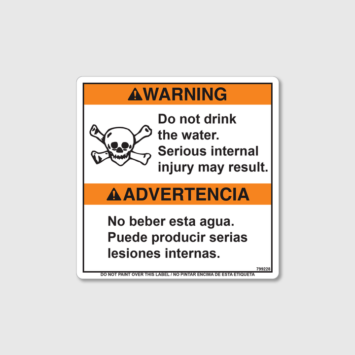 Warning! Do Not Drink Decal